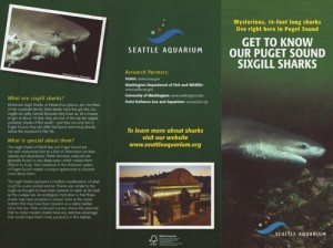 Seattle Aquarium Brochure
