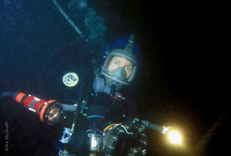 Veronica von Allwörden diving for Pacific Marine Research
